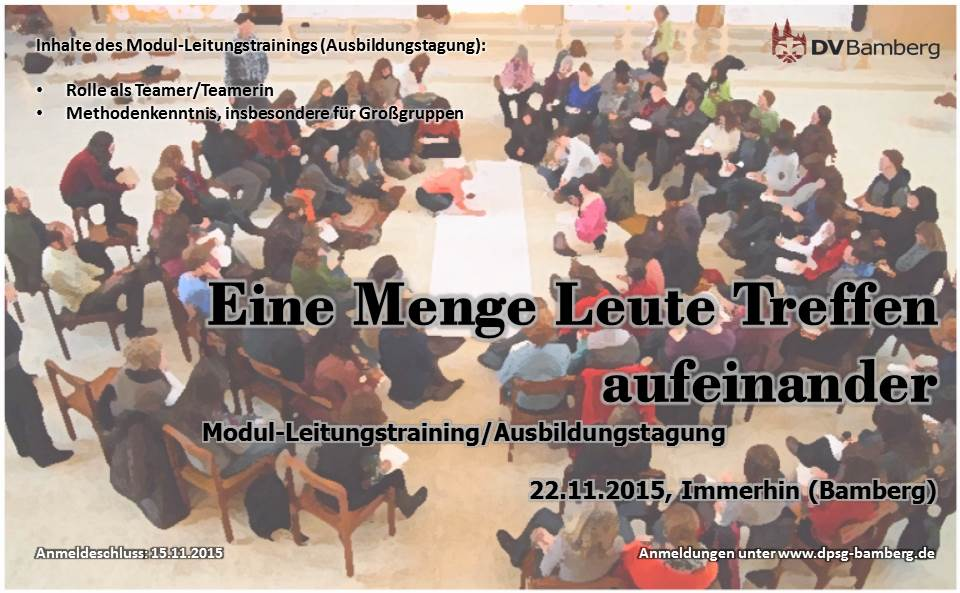 Modul-Leitungstraining/Ausbildungstagung am 22.11.2015
