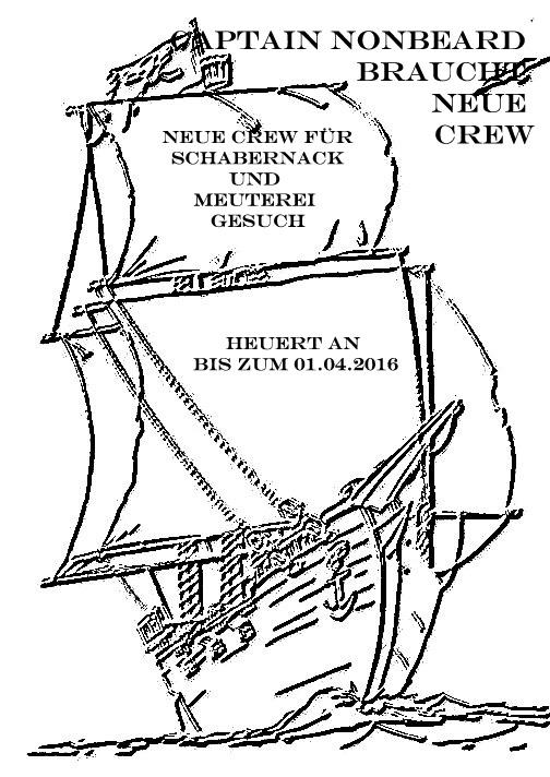 +++Captain Nonbeard braucht neue Crew+++ – Modulausbildung vom 8. bis 10.4. in Rothmannsthal