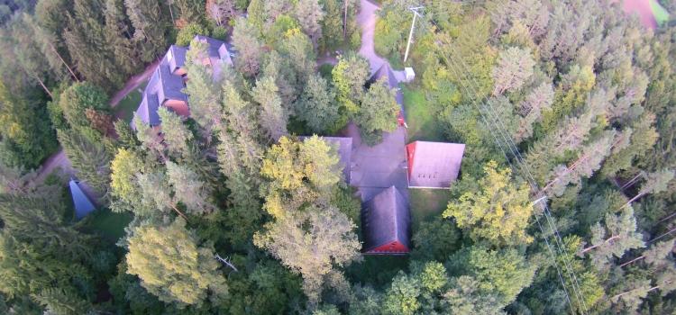 Luftbild Häuser